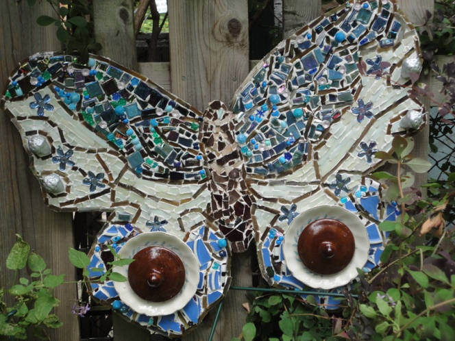 Exotic Blue Butterfly Long Branch Mosaics Aug 2015
